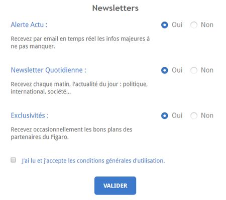 Changement d'adresse Le Figaro