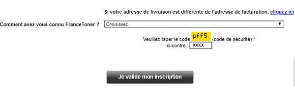 Contacter service client Francetoner.fr