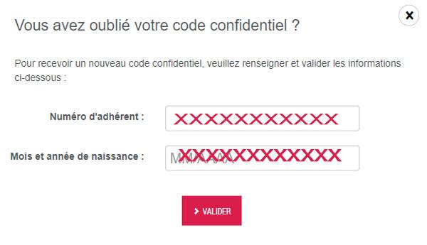Carac.fr: J'ai oublié le code secret