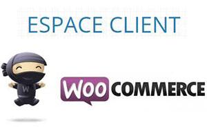 Espace client woocommerce
