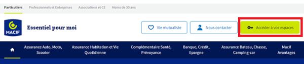 Vos espaces clients macif.fr