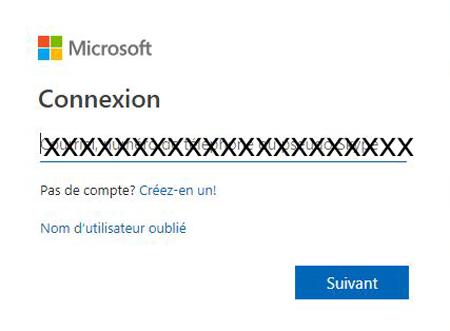 Créer compte Microsoft