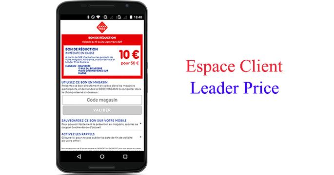 Leader Price bon de réductions de 12€
