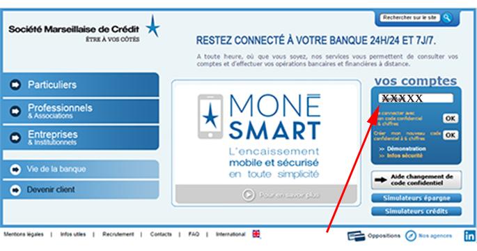 www.smc.fr/particuliers : étapes de connexion
