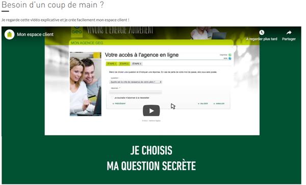 Créer mon compte GEG.fr