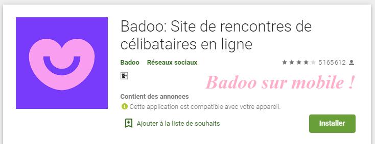 badoo sur mobile
